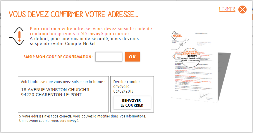 Comment Confirmer Mon Adresse Postale Centre Daide Nickel